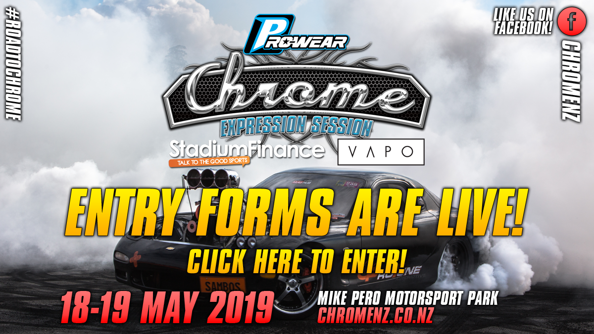 Chrome Christchurch Entry Forms are live!